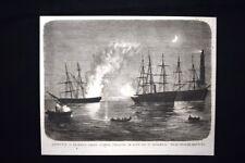 Genova - Incendio della goletta Simpatia, la notte dell'1 settembre 1876