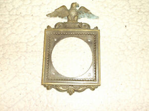 """ODD Vintage Patriotic Eagle LARGE CIRCLE OPENING 3.5X3.5"""" SQUARE WALL MOUNT BRAS"""