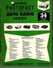 Sams Photofact-Auto Radio Manual/#AR-34/First Edition-First Print/1966