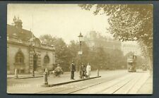 C1912-14 RPPC - LONDON -- THAMES EMBANKMENT WITH TRAMS