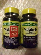 Spring Valley Melatonin Tablets 5 mg 120 Ct 2 Pk