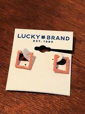 lucky brand earrings easy lock closure new with tags