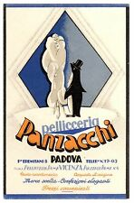 POSTCARD ITALIAN ADVERTISING PANZACCHI FURRIER PADUA PENGUIN ART DECO