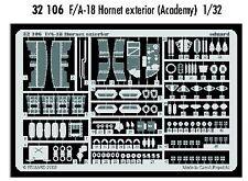 Eduard 1/32 F/A-18 Hornet exterior for Academy kit # 32106
