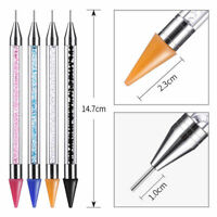 Dual-ended Dotting Nail Art Pen Rhinestone Handle Picker Crystal Bead Wax Pencil