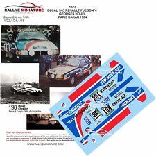 DECALS 1/18 REF 1527 RENAULT FUEGO GEORGES HOUEL RALLYE PARIS DAKAR 1984 RALLY