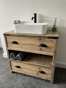 WALLINGTON Reclaimed Wood Vanity Unit