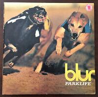 Blur - Parklife 1st Press Greek Vinyl 1994 Record LP Food/EMI ORG V.Rare EX-/VG+