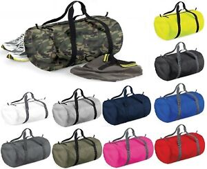 BagBase Packaway Barrel Bag Foldable Holdall Sports Gym Travel Duffle One Size