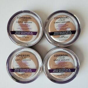 4 Covergirl + Olay SImply Ageless Foundation 250 Creamy Beige Exp 9/20 & 05/2021