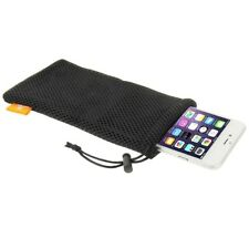 "HAWEEL Nylon Mesh Pouch Bag with Cord For All Smartphones up to 5,5 "" Inch"
