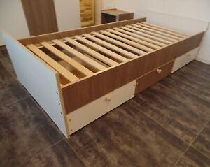 Bett Kinder Jugend Kojen Funktions Einzelbett Gestell Senioren 100x200 Schublade
