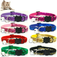 Safety Pet Collar Cat Glitter Collar Adjustable Quick Release Bell Sequined Tags
