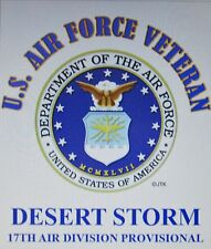 DESERT STORM 17TH AIR DIVISION PROVISIONAL* U.S.AIR FORCE W/ EMBLEM*SHIRT
