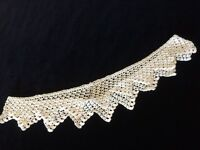 "Antique Vtg Lace Sewing Crochet Round Trim 34"" Scalloped Edging Design"