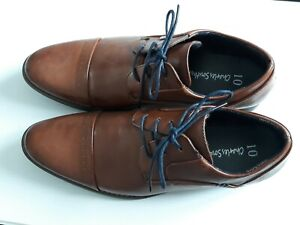 Tan Brown Leather Look Size 10 Mens Shoes