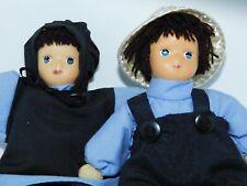 Vintage Porcelain & Cloth Amish Dolls Boy Girl