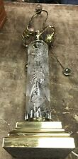 Vintage Signed Dresden Crystal Table Lamp - deep cut glass pattern