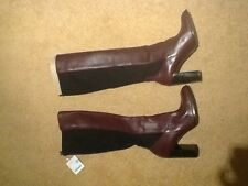 Zara Purple Knee High Boots With Elasticated Back Size 8