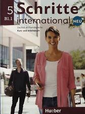 Hueber SCHRITTE INTERNATIONAL NEU 5 Kursbuch + Arbeitsbuch B1.1 mit CD @NEW@