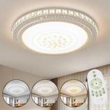 LED Kristall Deckenleuchte mit Fernbedienung Wohnzimmer Flurleuchte Dimmbar