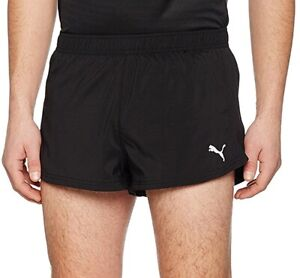 Puma Core Run Mens Running Split Shorts - Black