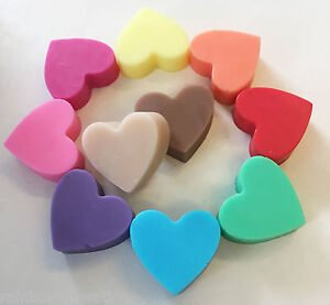 50 x Mini Heart Soaps - Flat - Wedding Birthday Christening Baby Shower BULK