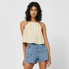 b03119bacb0f8b NEW SBRN Suburban summer Flirt Crop Singlet top in Yellow Stripe sz 16