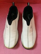 Nike Air Women White Leather Golf Shoe Size 8 slip on