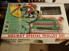 MTH Holiday Christmas Trolley Set