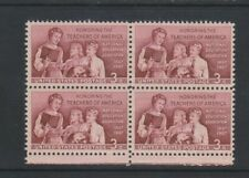 USA - 1957, 3c Red, Teachers of America Block of 4 - M/M - SG 1095