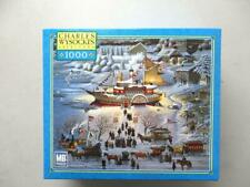 Charles Wysocki's 1000 Piece MB Puzzle TOYING WITH DINNER 2002 NEW