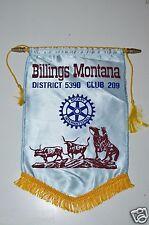 WOW RARE Vintage Billings Montana Rotary International Club Wall Banner Flag