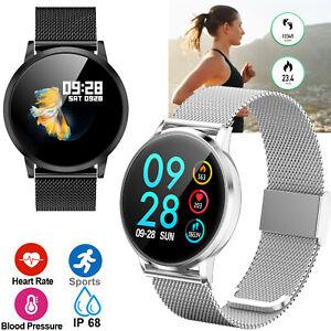 Fitness Tracker Smartwatch Bluetooth Phone for Women Men Samsung S10 Note 9 8 LG