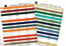 1972 DODGE Truck Color Chip Paint Sample Brochure / Chart