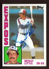 1984 TOPPS #188 BRYAN LITTLE EXPOS AUTO SIGNED CARD JSA STAMP B