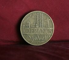 1980 France 10 Francs World Coin KM940 Electric Plant wires towers French