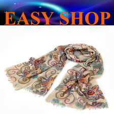 Lady Women Fashion Bohemian Totem Stole Thin Scarf Cape Shawl Winter Spring