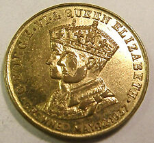 1937 KING GEORGE VI & QUEEN ELISABETH Coronation Souvenir Cocktail Token /Jeton