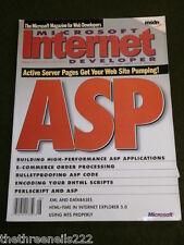 MICROSOFT INTERNET DEVELOPER - V4 # 8 - ASP - AUG 1999