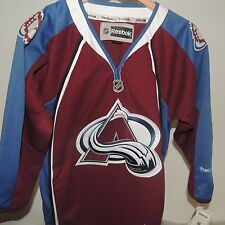 NHL REEBOK Premier Home Colorado Avalanche Hockey Jersey New Youth S/M MSRP $80