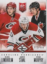 2012-13 Limited Rookie Redemption Hurricanes #5 LIndholm/Staal/Murphy /499