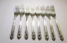 "Set of 8 Royal Danish International Sterling Silver Dinner Forks 7"" ~ SS-6698"