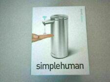 SimpleHuman Liquid Hand Soap Dispenser Sensor Pump Brushed Stainless Steel * NEW