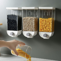1500ML Wall Mounted Airtight Tea Kitchen Cereal Jars Food Storage Containers