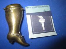 C. 1910 LADIES LEG & DETAILED SHOE MATCH HOLDER VESTA CASE MATCH SAFE STRIKER