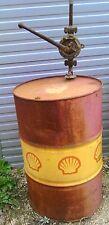 ancien bidon fut pompe huile Shell hélix garage atelier industriel loft oil japy