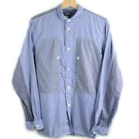 Comme Des Garcon Junya Watanabe Button Down Patchwork Checkered Henley Shirt