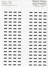 N-Loknummern DR Dampf 01-52 Silber auf Schwarz, Siebdruck Decals Kreye 160-1481