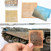 DIY Weathering Airbrush Stencils Tool For 1/35 1/48 1/72 Scale Model  Upgrade